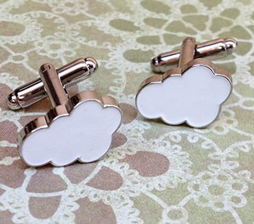 Men's Cufflinks - Clouds