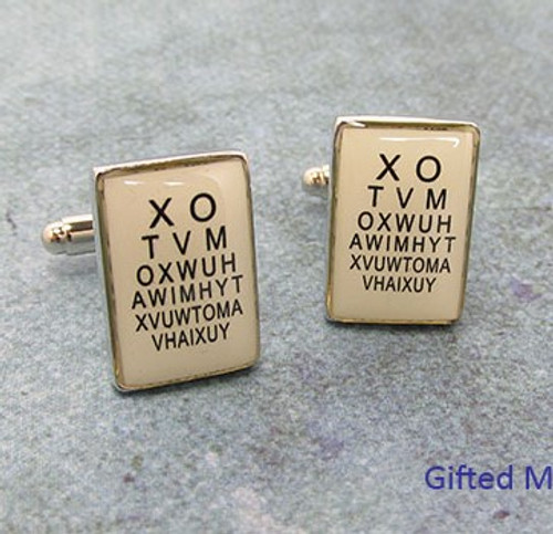 Men's Cufflinks - Eye Chart