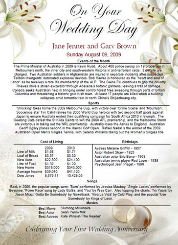 The Day You Were Married Certificate - Email