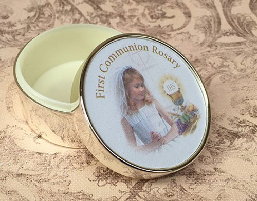 First Holy Communion Rosary Box