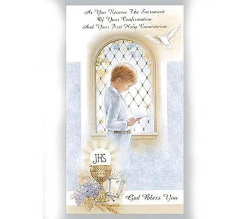 Boys Combined Confirmation and First Holy Communion Card