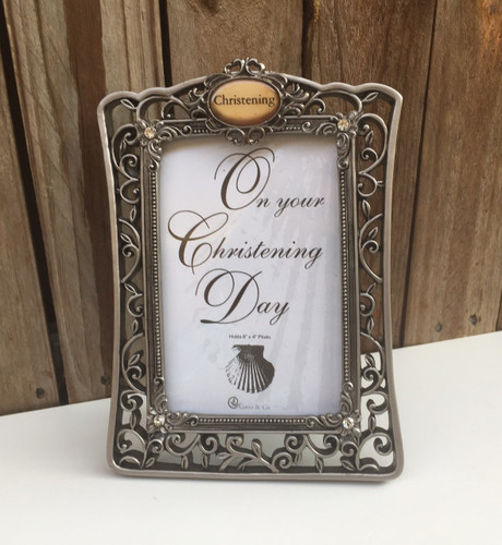 Filigree Christening Photo Frame