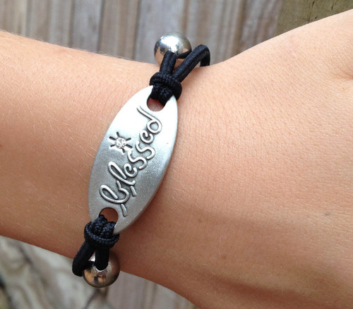 'Blessed' Stretch Bracelet
