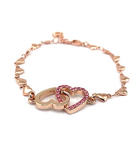 Equilibrium Bracelet - Rose Gold Plated Heart Charm