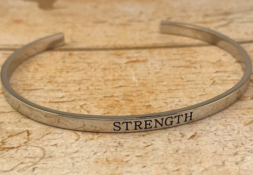 Ginger Moon Strength Cuff-style Bangle