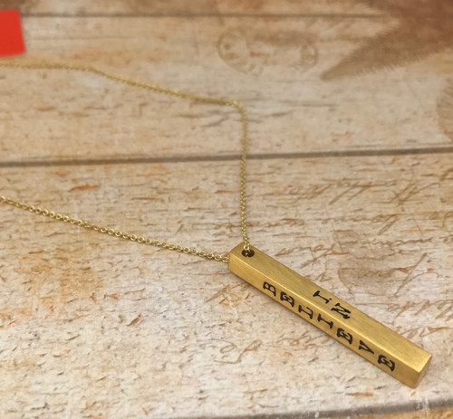 Inspiration Bar Necklace - Believe In Yourself