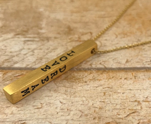 Inspiration Bar Necklace - Live Laugh Love Dream
