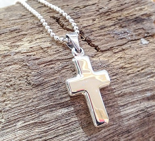 Sterling Silver Engravable Cross Pendant