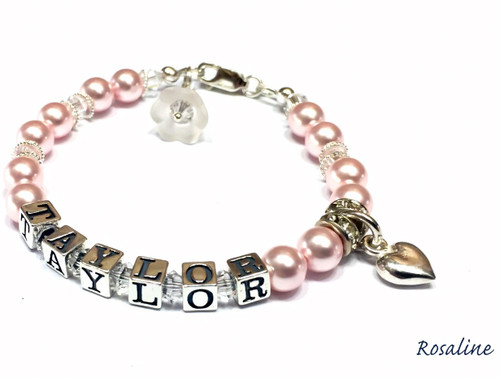 Pretty In Pink Name Bracelet
