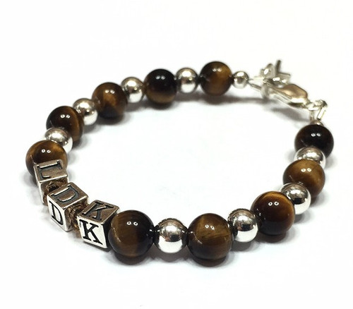 Boys Personalised 'Walk With Me' Baptism Bracelet