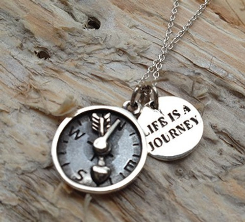 'Life's A Journey' Sterling Silver Necklace