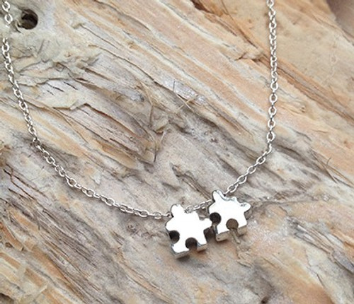 'You Complete Me' Sterling Silver Necklace
