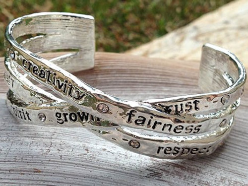 Majique Jewellery - Words of Inspiration Cuff Bangle