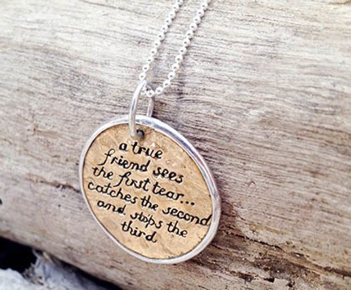 'True Friend' Charm Necklace