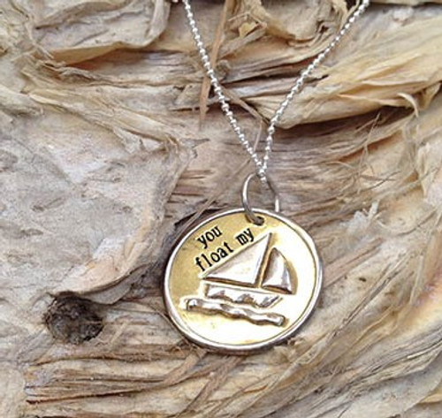 'You Float My Boat....' Charm Necklace