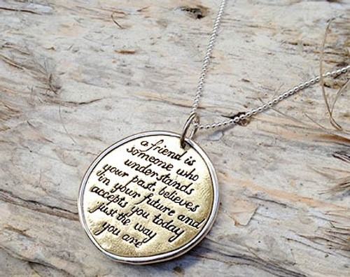 'Friend' Charm Necklace