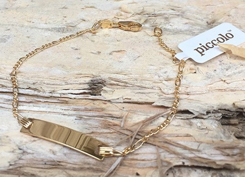 9ct Gold Identity Bracelet - Engraving Included