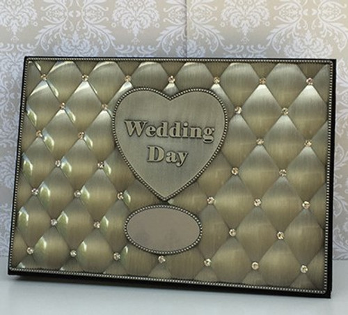 Wedding Day Diamanté Photo Album - engraving included
