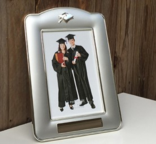 Silver Graduation photo frame - engraving included