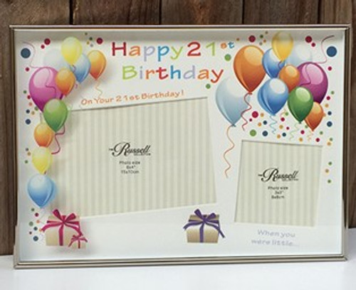 21st Birthday Photo Frame - Engraving included
