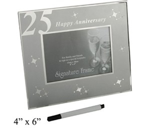 Happy 25th Anniversary Signature Frame