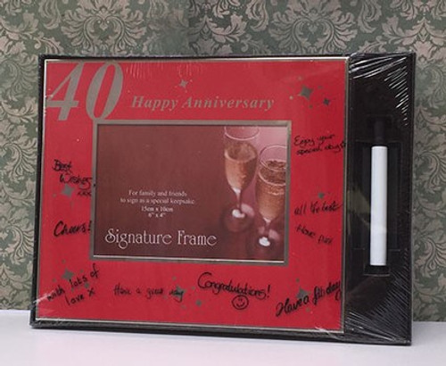 Happy 40th Anniversary Signature Frame