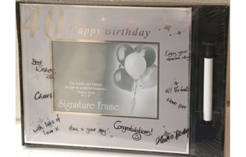 Happy 40th Birthday Signature Frame