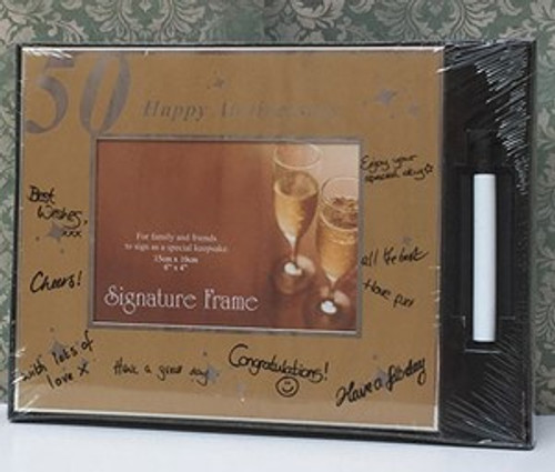 Happy 50th Anniversary Signature Frame