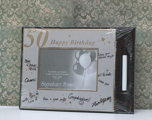 Happy 50th Birthday Signature Frame