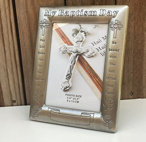Pewter Photo Frame - Baptism Day