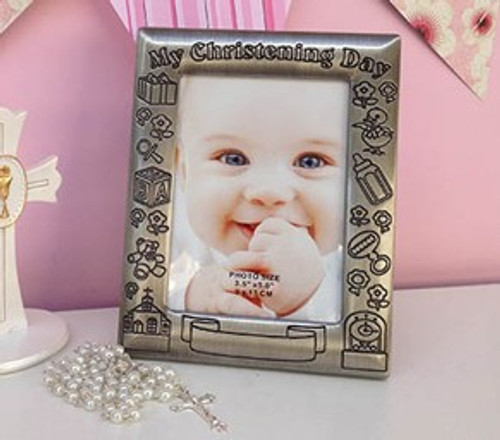 Pewter Photo Frame - Christening Day