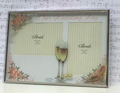 Our Wedding Photo Frame - Engraving included