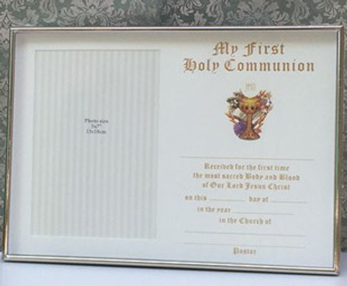 First Holy Communion Certificate Frame