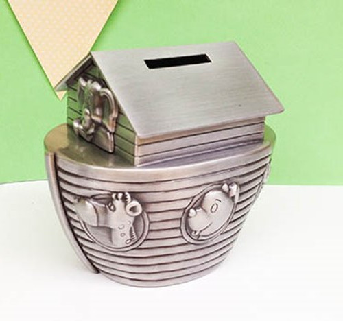 Personalised Noahs Ark Money Box - Best Christening or Baptism Gift
