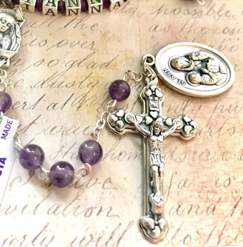 Amethyst Personalised Rosary - First Holy Communion Gift