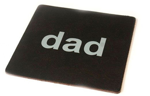 Recycled Leather Mouse mat - Dad