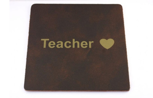 Recycled Leather Mouse mat - Teacher