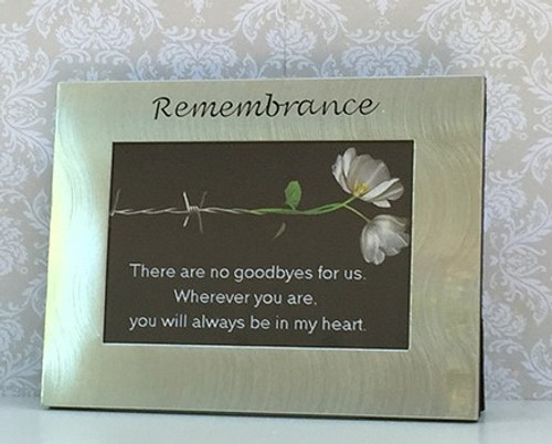 'Remembrance' Silver Photo Frame