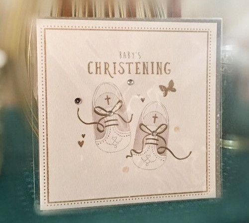 Baby's Christening Embellished Card