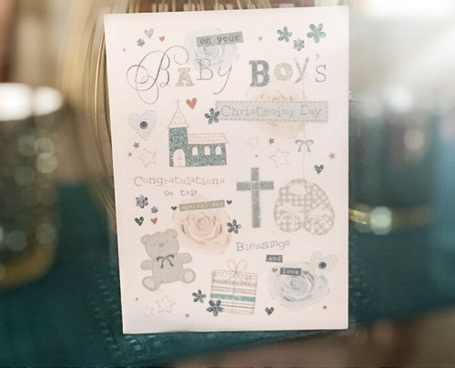 On Your Baby Boy's Christening Day