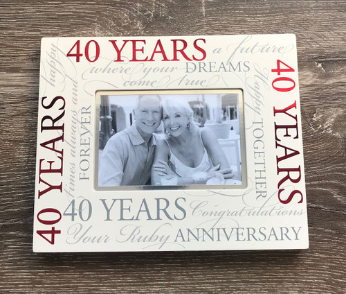 40th Wedding Anniversary Ruby Photo Frame