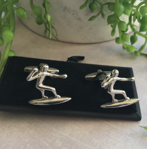 Men's Cufflinks - Surfer