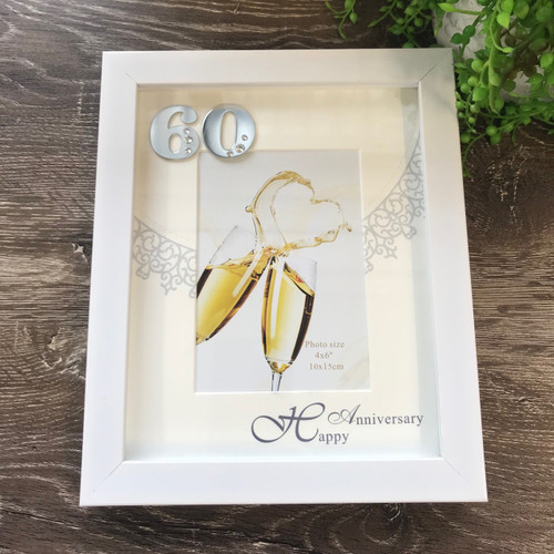 60th Golden Wedding Anniversary Picture Frame