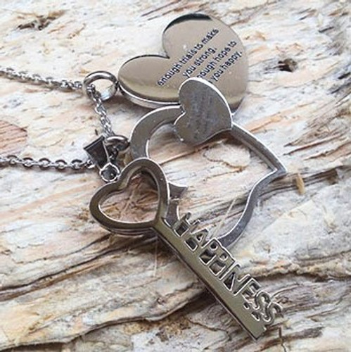 Stainless Steel Happiness Charm Necklace