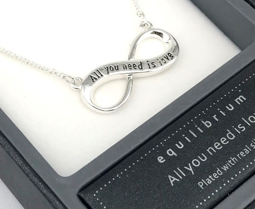 Equilibrium Eternity Necklace - 'All You Need Is Love'