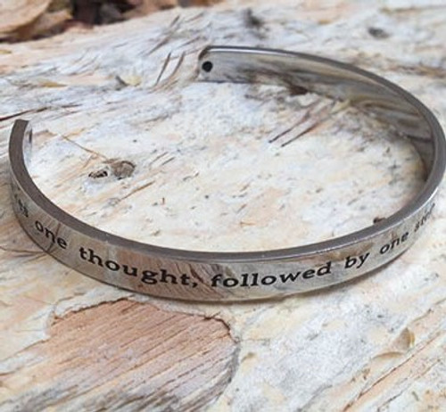 Stainless Steel 'Journey' Cuff Bangle
