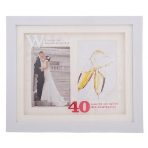40th Wedding Anniversary Icon Photo Frame