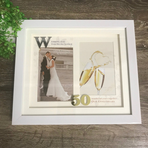 50th Wedding Anniversary Icon Photo Frame