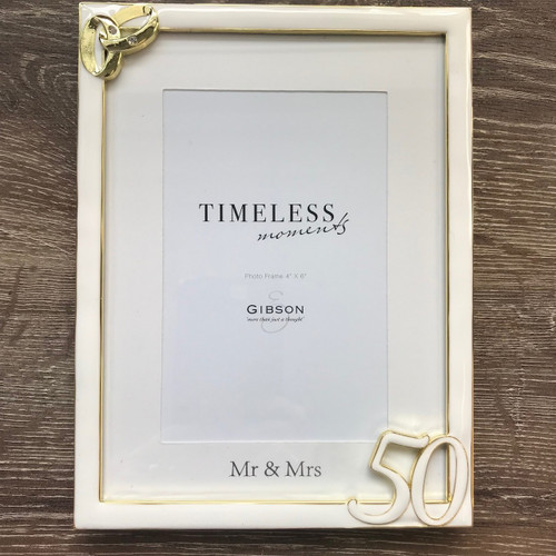50th Wedding Anniversary Ring Photo Frame