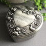 Pewter Heart Baby Trinket Box